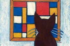 """Mia Meow Meets Mondrian at the Museum"""
