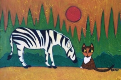 """Mia Meow and the Zebra"""